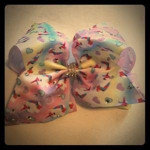 Jojo Siwa pastel hearts and unicorn bow